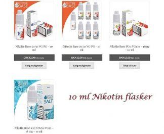 10 ml Nikotin flasker