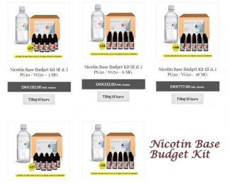 Nicotin Base Budget Kit til 1L