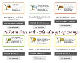 Nikotin base salt - Bland Ryst & Damp